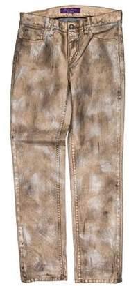 Ralph Lauren Purple Label Metallic Skinny Jeans