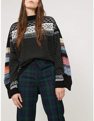 Y/Project Double-panel mixed-knit jumper