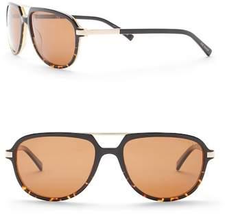 Ted Baker 59mm Full Rim Oval Sunglasses