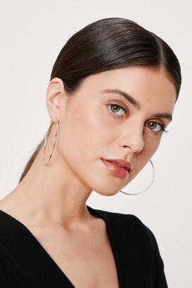 Nasty Gal Fine Evening Hoop Earrings