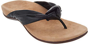Vionic Leather Knotted Thong Sandals- Pippa
