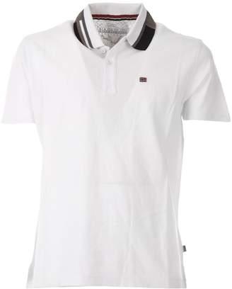 Napapijri White Eqit Polo Shirt