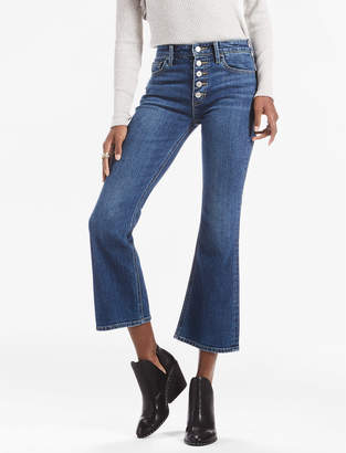 Lucky Brand Bridgette Crop Flare Jean With Exposed Button Fly