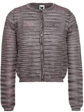 M Missoni Cropped Metallic Crochet-knit Cardigan