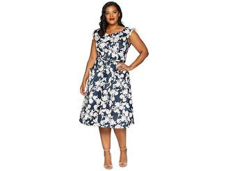 Unique Vintage Plus Size 1950s Style Marlo Swing Dress