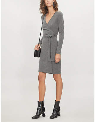 Diane von Furstenberg Wrap-over cashmere dress