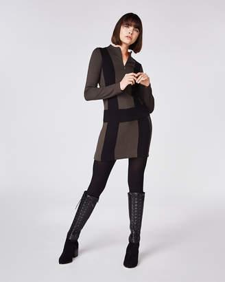 Nicole Miller Ponte Zip Up Dress