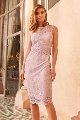 Lipsy VIP Sequin Lace Midi - 6 - Pink