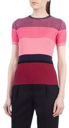 Akris Punto Colorblock Wool Top
