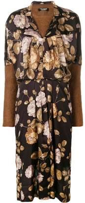 Junya Watanabe floral front jersey jumper dress