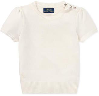 Polo Ralph Lauren Little Girls Short-Sleeve Sweater