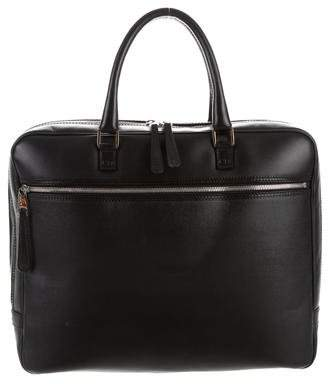 Christian Dior Textured Leather Briefcase