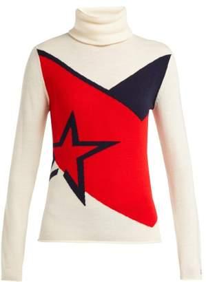 DAY Birger et Mikkelsen Perfect Moment - Super Chevron Intarsia Wool Sweater - Womens - White Multi