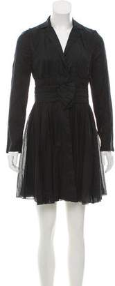 Prada Pleated Mini Dress