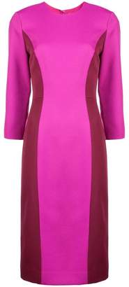 Milly colour block fitted dress