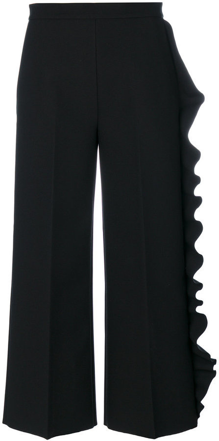 MSGM ruffled cropped trousers