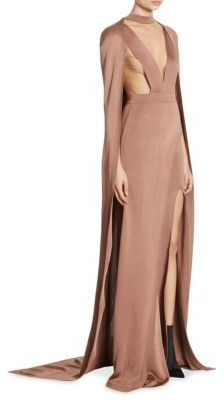 Balmain All-In-One Cape Choker Gown $4,120 thestylecure.com