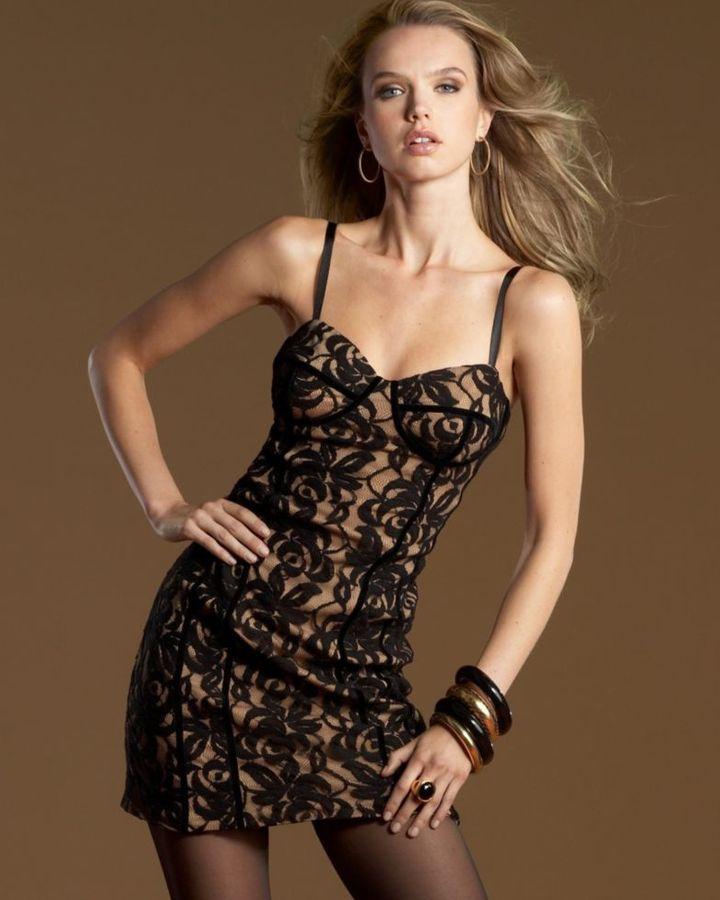INC International Concepts Lace Corset Dress