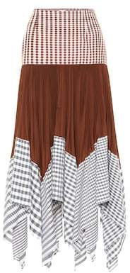 Loewe Patchwork cotton-blend midi skirt