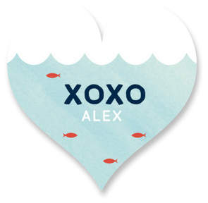 School Valentine Custom Stickers
