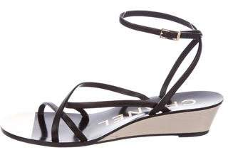 Chanel CC Leather Sandals