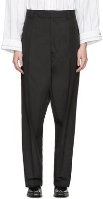Vetements Black Baggy Suit Trousers $1,265 thestylecure.com