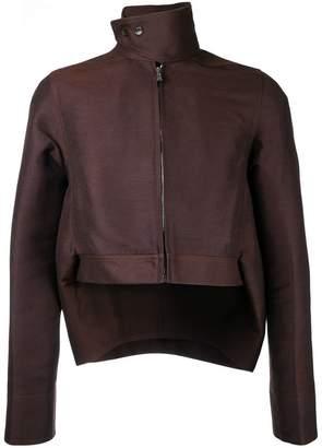 Rick Owens cropped high-low hem jacket
