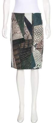 Yigal Azrouel Printed Pencil Skirt w/ Tags