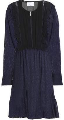 3.1 Phillip Lim Ruffle-Trimmed Fil Coupé Silk-Blend Georgette Dress