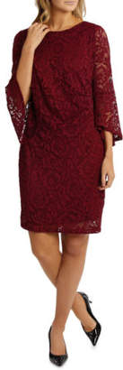 Ralph Lauren NEW Trent Nathan Events Lace Side Rouch Dress Raspberry