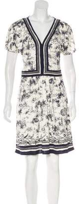 Tory Burch Toile Du Jouy Silk Dress