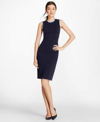 Brooks Brothers Milano-Knit Merino Wool Sheath Dress