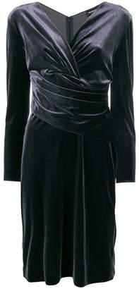 Emporio Armani v-neck fitted dress