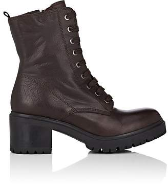 Barneys New York WOMEN'S LUG-SOLE LEATHER ANKLE BOOTS