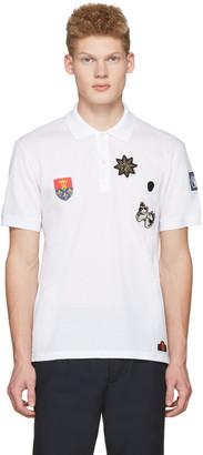 Alexander McQueen White Badges Polo $375 thestylecure.com