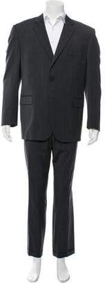 Burberry Pinstripe Wool Two-Piece Suit