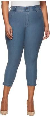 Hue Plus Size Ankle Slit Essential Denim Capris Women's Capri