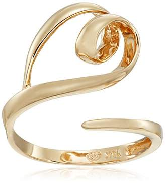 Twisted Heart 14k Gold Open Bypass Ring