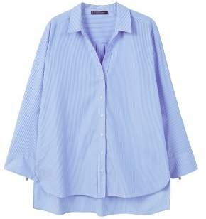 Violeta BY MANGO Fine-stripe shirt