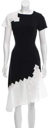 Jonathan Simkhai Mesh-Trimmed Dress