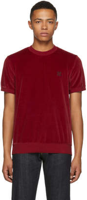Givenchy Red Velvet 4G Slim Fit T-Shirt