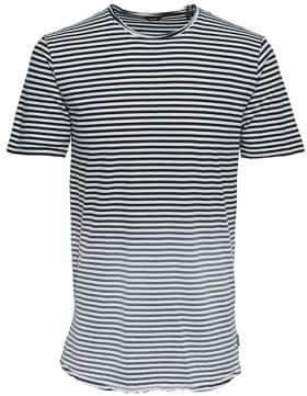 ONLY & SONS Bleached Striped Cotton Tee