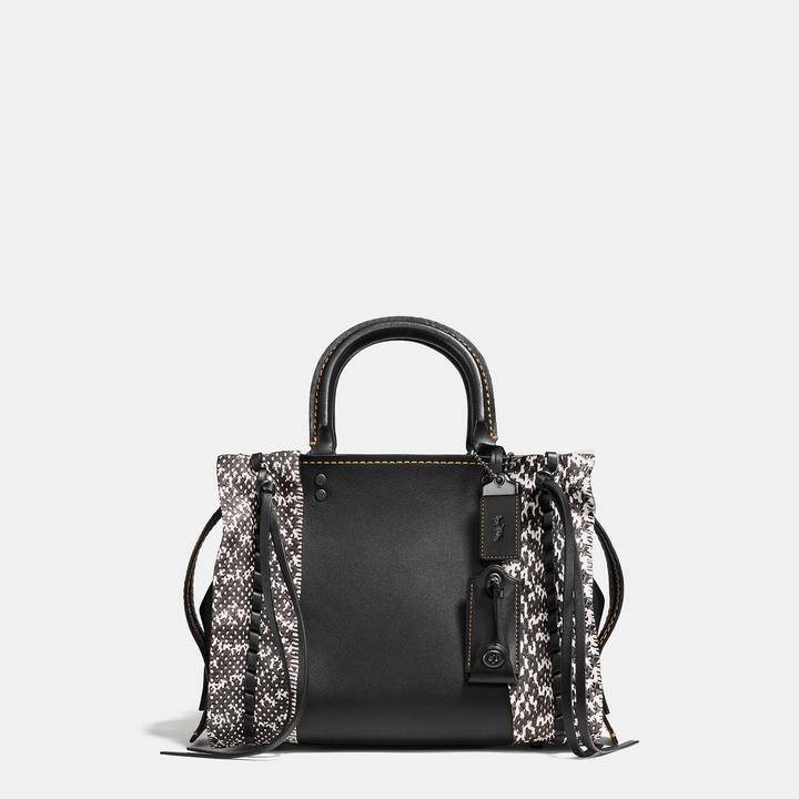 Coach   COACH Coach Rogue 25 In Glovetanned Leather With Whipstitch Snake