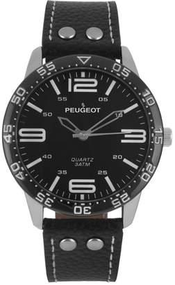 Peugeot Men's Sport Leather Watch