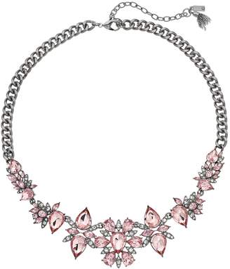 Vera Wang Simply Vera Pink Simulated Crystal Cluster Necklace