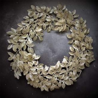 The Christmas Home Contemporary Silver Leaf Christmas Wreath