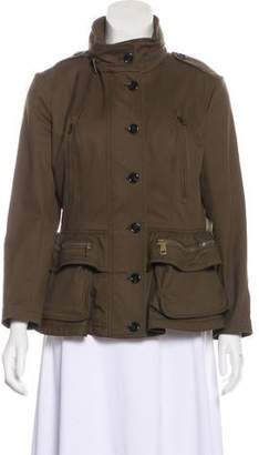 Burberry Woven Button-Up Jacket