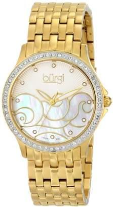 Burgi Women's BUR081YG Analog Display Swiss Quartz Gold Watch