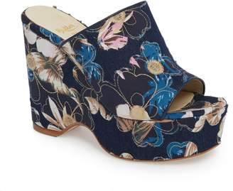Butter Shoes Shoes Skylar Floral Applique Platform Mule