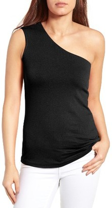 Women's Bobeau One-Shoulder Top $49 thestylecure.com